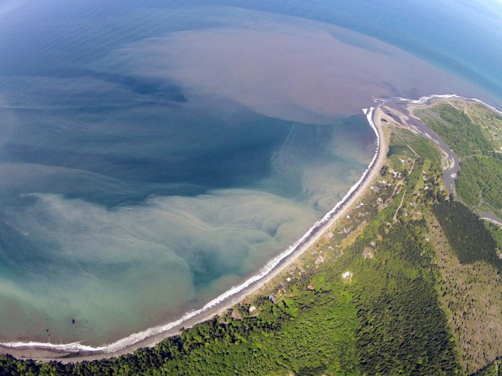 aerial of the Olympic Peninsula