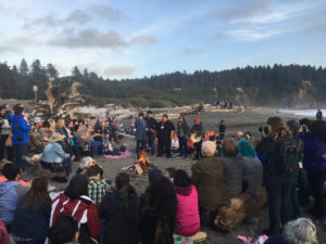 Quileute Tribal Members and Cosplay Alice in La Push on the Olympic Peninsula