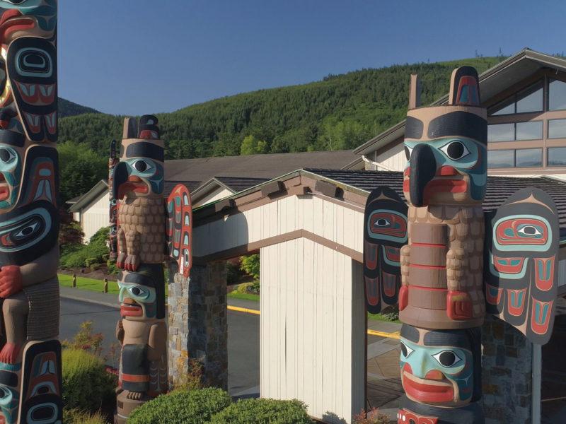 Jamestown S'Klallam Casino Totems on the Olympic Peninsula, WA