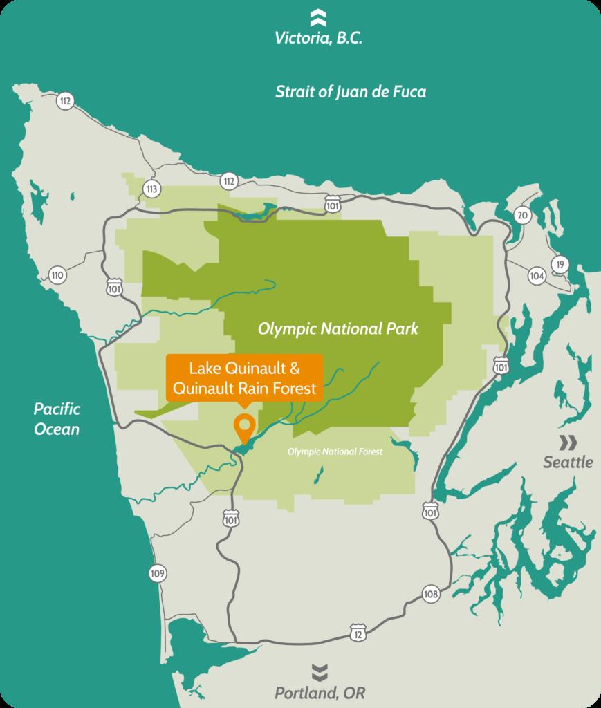 Map of Olympic Peninsula Destination Area