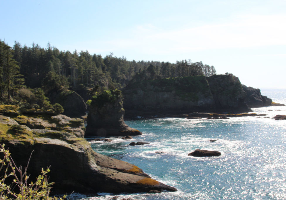 Cape Flattery where the Strait of Juan de Fuca joins the Pacific Ocean