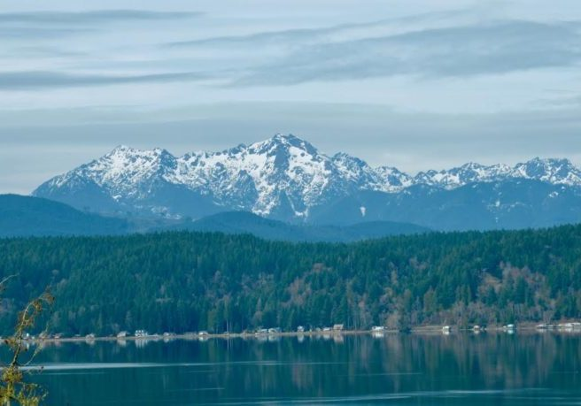 Hood Canal near Olympic Mountains